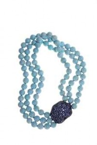 14M410 Turquoise & sapphire necklace Taylor